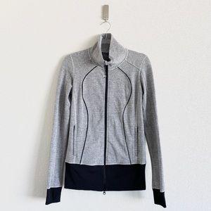 Lululemon Nice Asana Zip Up Jacket Top Herringbone